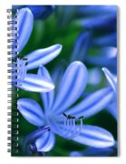 Blue Lily Of The Nile Spiral Notebook