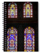 Blue Mosque Stained Glass Windows Spiral Notebook
