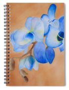 Blue Mystique Orchid Spiral Notebook