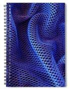 Blue Net Background Spiral Notebook