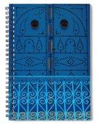 Blue On Blue Spiral Notebook