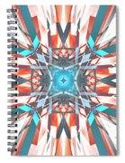 Blue Orange Kaleidoscope Spiral Notebook