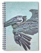 Blue Pelican Spiral Notebook