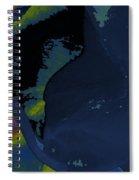 Blue Petal Spiral Notebook