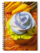 Blue Rose Cup Cake Spiral Notebook