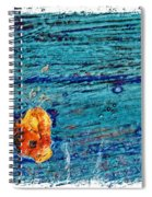 Blue Rusted Steel Painted Background Spiral Notebook
