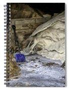 Blue Shovel Spiral Notebook