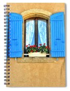 Blue Shutters In Provence Spiral Notebook