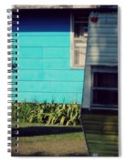 Blue Siding And Camper Spiral Notebook