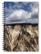 Blue Skies And Grand Canyon In Yellowstone Spiral Notebook