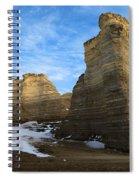 Blue Skies At Monument Rocks Spiral Notebook