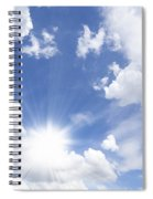 Blue Sky And Sun Ray Spiral Notebook