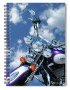 Blue Sky Harley Spiral Notebook