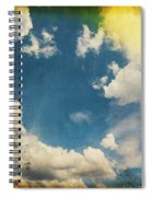 Blue Sky On Old Grunge Paper Spiral Notebook