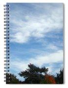 Blue Sky White Clouds Autumn Prints Spiral Notebook