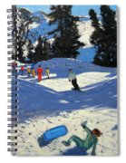 Blue Sledge Spiral Notebook