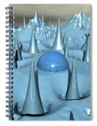 Blue Spikes Alien Terrain Spiral Notebook