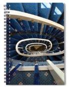Blue Spiral Stairsway Spiral Notebook