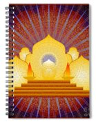 Blue Sun Temple 2012 Spiral Notebook