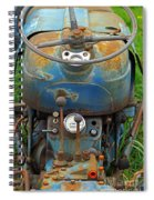 Blue Tractors Driver's Seat Spiral Notebook