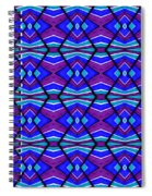 Blue Turquoise And Purple Spiral Notebook