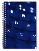Blue Warped Keyboard Spiral Notebook