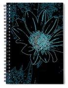 Blue Wildflower   Spiral Notebook
