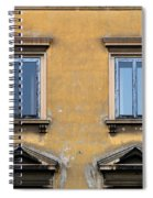 Blue Windows On A Yellow Wall In Milan Spiral Notebook
