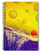 Blue Yellow Red Spiral Notebook
