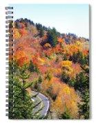 Blueridge Parkway View Near Hwy 215 Spiral Notebook