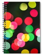 Blurred Christmas Lights Spiral Notebook