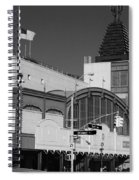 Bmt End Of The Line In Black And White Spiral Notebook