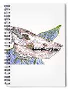 Boar Skull Ink Spiral Notebook