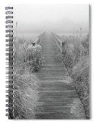 Boardwalk In Quogue Wildlife Preserve Spiral Notebook