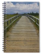Boardwalk On The Beach On Lake Michigan Spiral Notebook