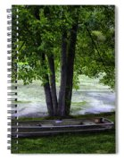 Boat By The Pond 2 Spiral Notebook