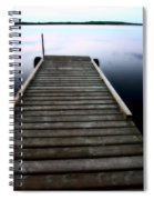 Boat Dock At Smallfish Lake In Scenic Saskatchewan Spiral Notebook
