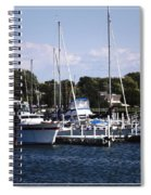 Boat Harbor In Dunkirk New York Spiral Notebook