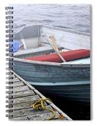 Boat In Fog Spiral Notebook