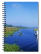 Boat In The River, Shannon-erne Spiral Notebook