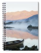 Boat On A Tranquil Lake Killarney Spiral Notebook