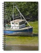 Boat On Banks Of Dee Spiral Notebook