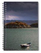 Boat On Loch Sunart, Scotland Spiral Notebook