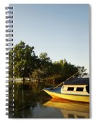 Boat On Sandy Beach Spiral Notebook