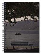 boat on the Lago Maggiore Spiral Notebook