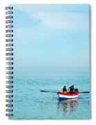 Boat On The Mediterranean Sea Spiral Notebook