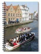 Boat Tours In Brugge Belgium Spiral Notebook