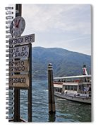 Boat Trip On Lake Maggiore Spiral Notebook