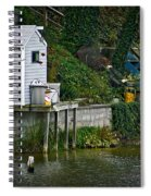 Boathouse Boy Fishing Spiral Notebook