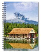 Boathouse On Mountain Lake Spiral Notebook